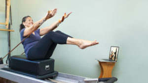 Pilates studio equipment workouts
